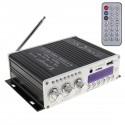 Amplificator audio auto HY-V10 cu radio FM, Bluetooth, USB, microSD, AUX