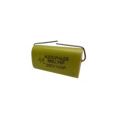 Condensator audio Audiophiler MKP galben6.8uf/250V
