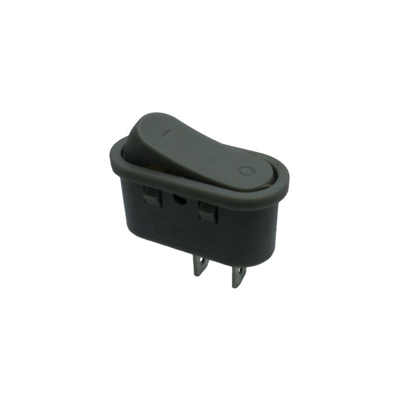 Intrerupator tip rocker ON-OFF 250V/6A gri KCD1-101-10