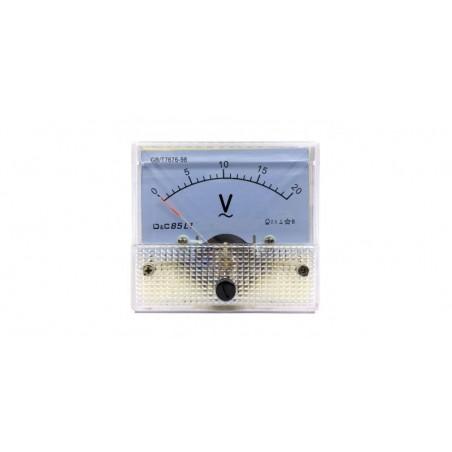 Voltmetru analogic de panou 20V curent alternativ