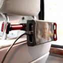 Suport auto pentru telefon/tableta cu prindere pe bratele tetierei