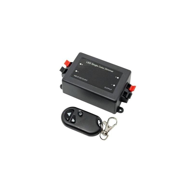 Dimmer LED 12-24V 8A cu telecomanda RF
