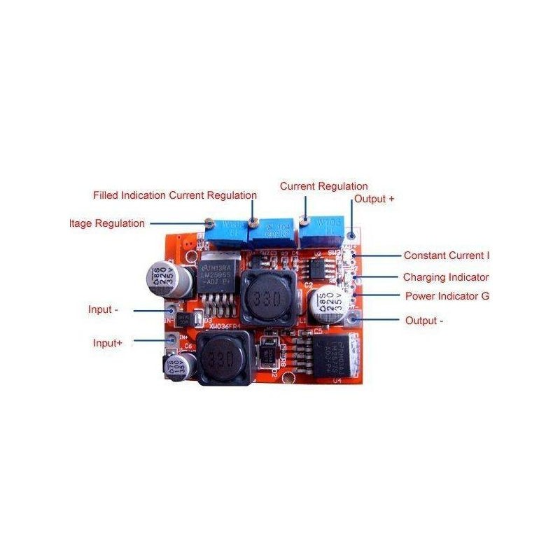 Modul step-up/step-down de tensiune cu LM2577S si LM2596S