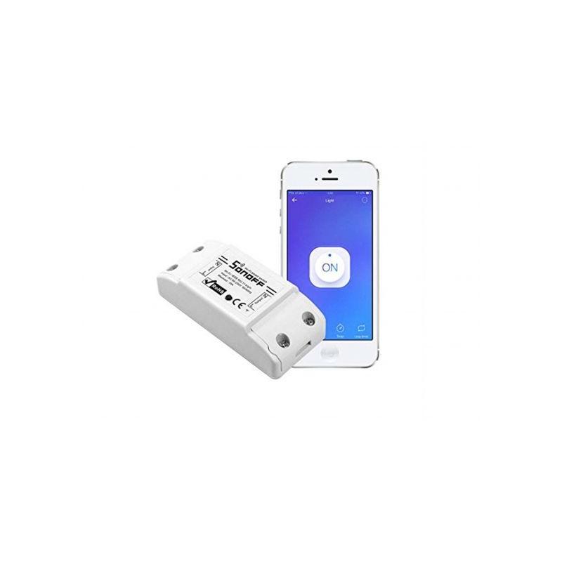 Releu wireless Wi-Fi Sonoff Basic IM151116002 (incl timbru verde 1.05 lei)