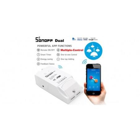 Releu wireless WiFi Sonoff dual IM160811001 (incl timbru verde 1.05 lei )