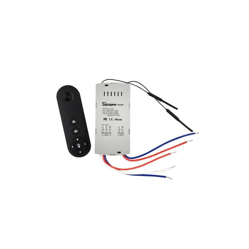 Comanda wireless Sonoff Wi-Fi si RF 433 pentru ventilator de