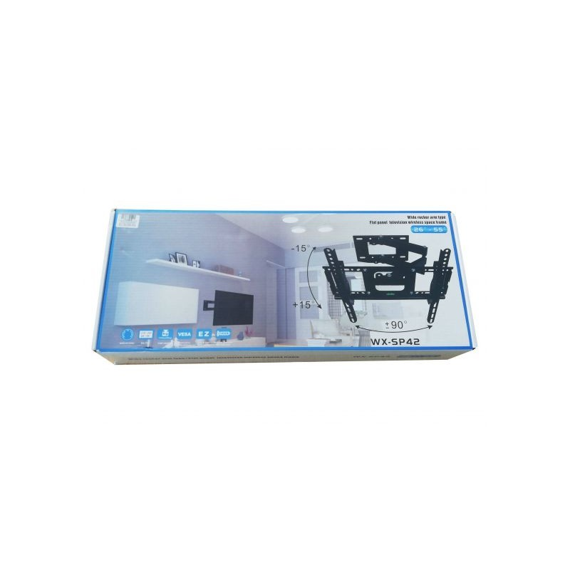 """Suport LCD 26-55"""" VESA 200/200X400/300/400 max.50kg UNGHI VERT 30GR ORIZ 90GR LUNGIME BRAT 50CM EasyFast WX-SP42"""