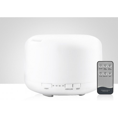 ML-A5 Difuzor aromaterapie alb cu telecomanda