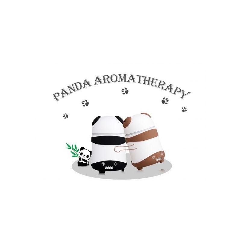 Difuzor umidificator aromaterapie ursulet Panda negru / maro