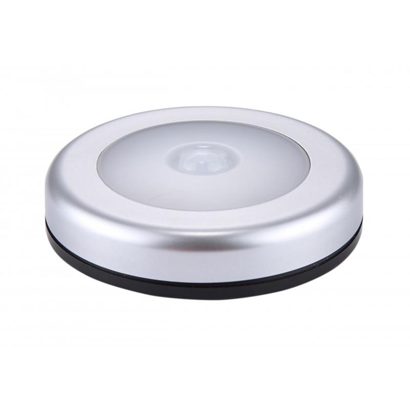 Mini aplica LED cu senzor PIR, 3 baterii R3, magnet, diemetru 80mm