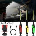 Lanterna de lucru COB cu suport magnetic reglabil lumina ALB cu reglaj intensitate incarcare usb