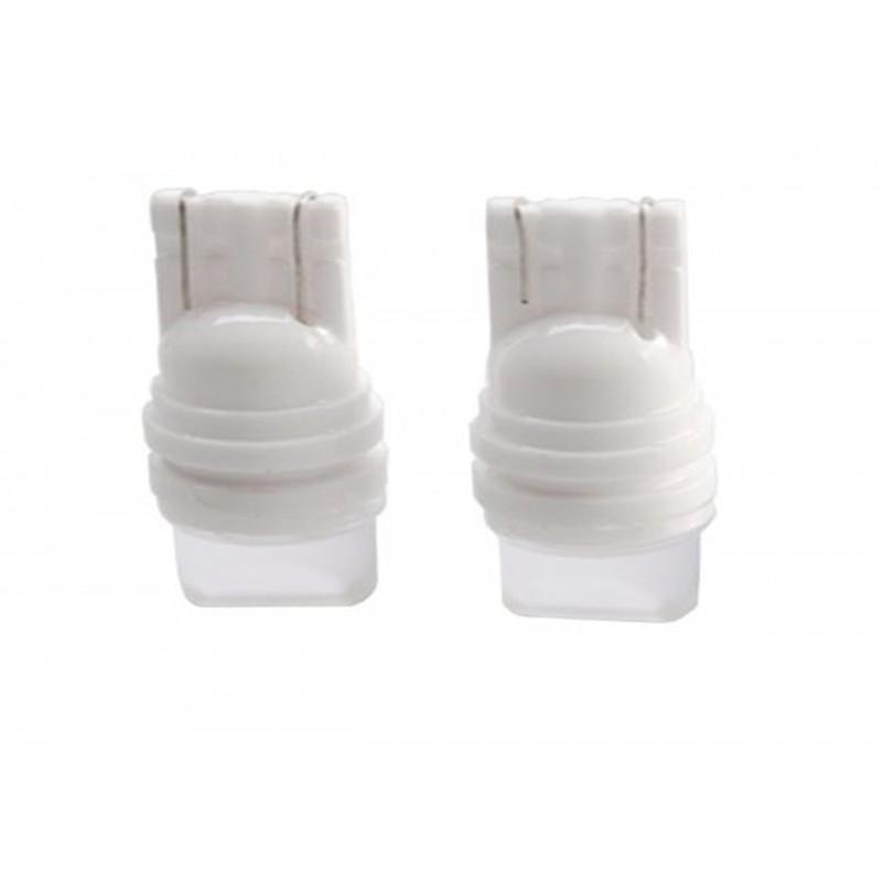Bec auto ceramic pozitie 6 LED-uri cu lupa, SMD 5630, Culoare Alb Rece, Alimentare 12V, soclu T10
