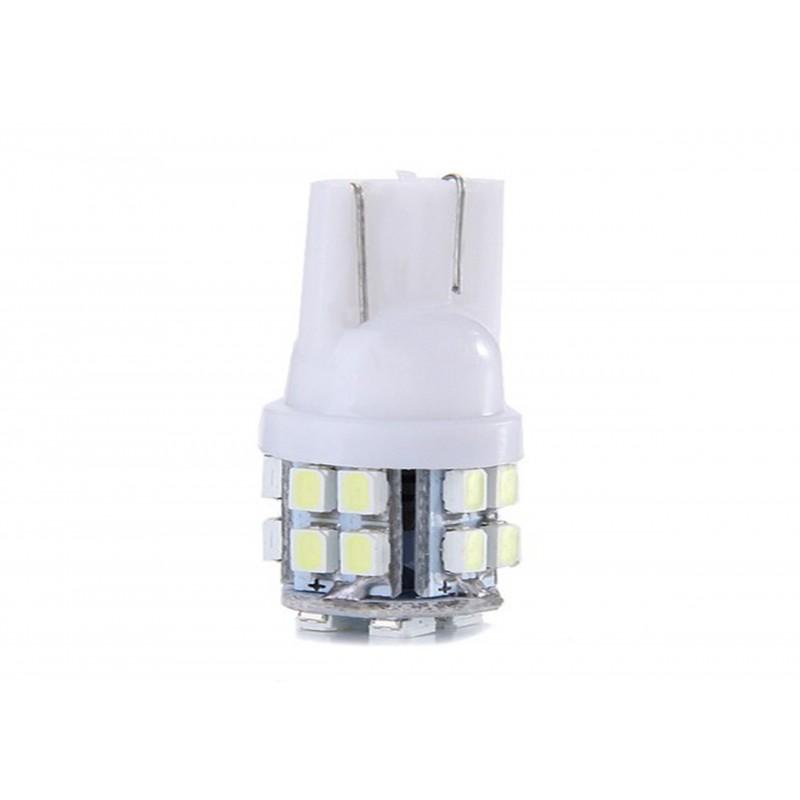 Bec auto pozitie 20 LED-uri, forma mar, SMD 3014, Culoare Alb