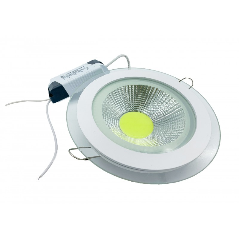Plafoniera LED COB JH-MBD-001COB ROTUND 12W Alb Rece