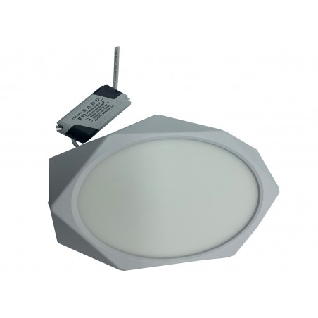 Plafoniera LED JH-MBD-201 ALB RECE 18W Hexagonala