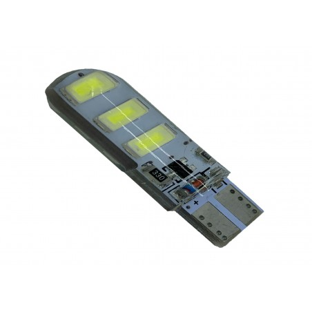 T10-G6-W/FLASH - LED auto T10 5730 6 SMD 12V silicon cu mod flash si mod static