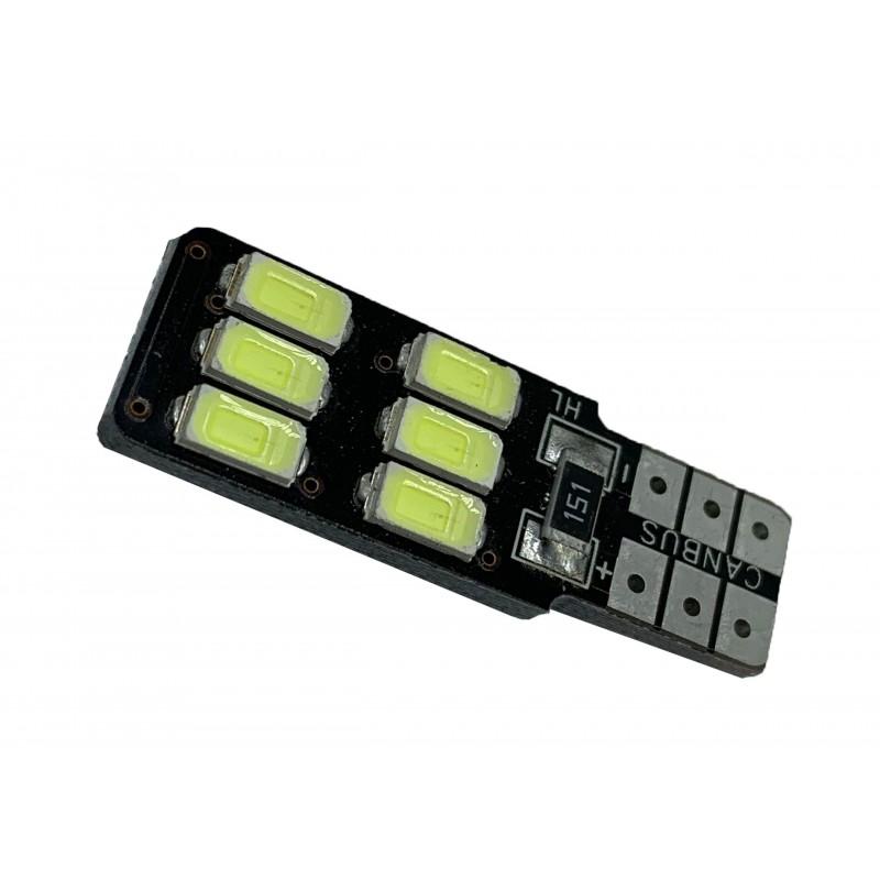 T10-6SMD-5730 - LED auto 12V canbus