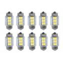 SJ-5050 3 LED 36mm - LED auto 12V plafoniera 36MM-A3-W