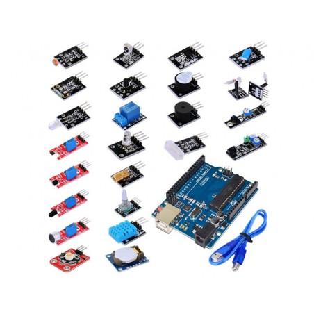 OKY1025-1 Kit 24 senzoriOKY1025-1 Kit 24 senzori in cutie de plastic. Arduino UNO R3 cu cablu inclus