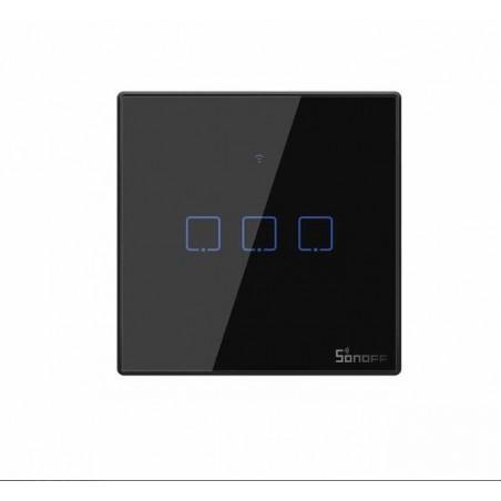 Intrerupator Wifi 3ch touch Sonoff IoT T3EU3C TX IM190314020  NEGRU