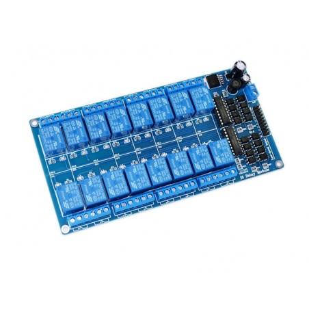 Modul de comanda cu 16 relee la 5V cu optocuplor Low Level OKY3016 10107122