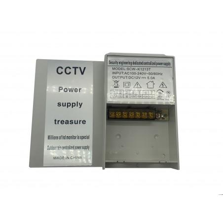 SCW-K1213T - Sursa de alimentare 12V-5A, In:100-240Vac, in carcasa de plastic
