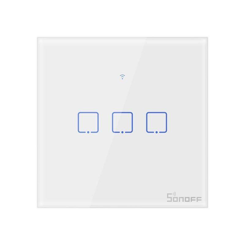 Intrerupator Wifi 3ch touch Sonoff IoT T0EU3C TX IM190314011 ALB