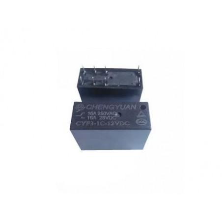 Releu electromagnetic DPDT Ubob 24VDC 250V 16A CYF3-1C-24VDC