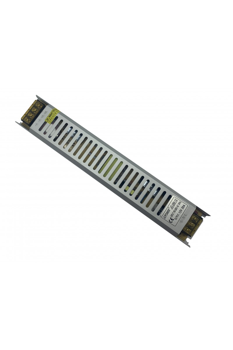 Sursa de alimentare industriala in cutie de tabla perforata 12V 15A - JC-180
