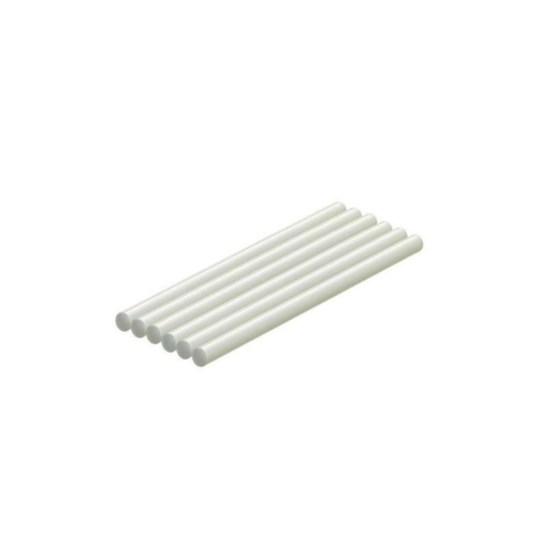 Bară silicon (rezervă plastic) alb, diametru 11 mm, L - 270 mm