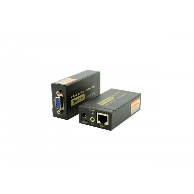 Extender VGA + audio prin cablu UTP, VE-100