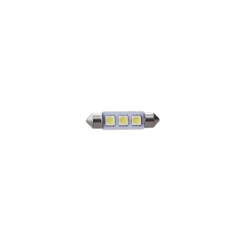 LED auto 12 V plafonieră, SJ-5050, 3 LED, 39 mm, 39MM-A3-W