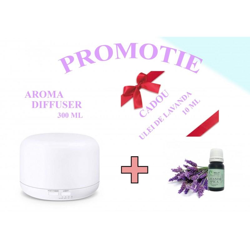 ML-A3 Difuzor aromaterapie alb cu telecomanda