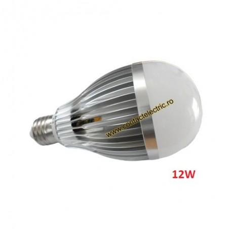 Bec E27 LED 12W cu radiator