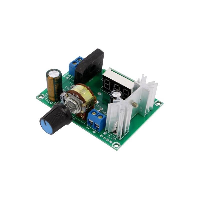 Regulator de tensiune LM317 0-22VAC/ 0-30VDC la 1.25-28VDC max. 2A
