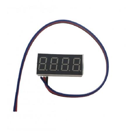 Voltmetru digital de panou DC 0V-100V, afisaj Rosu, 4 digiti