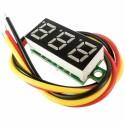 """Mini voltmetru digital cu afisaj LED rosu 0.28"""" cu trei fire 0-30V - CE Contact Electric"""