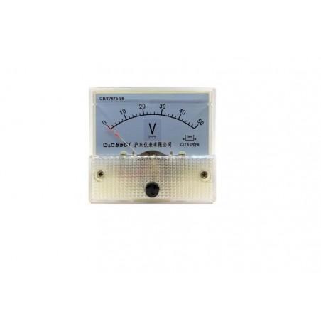 Voltmetru analogic de panou 50V curent continuu