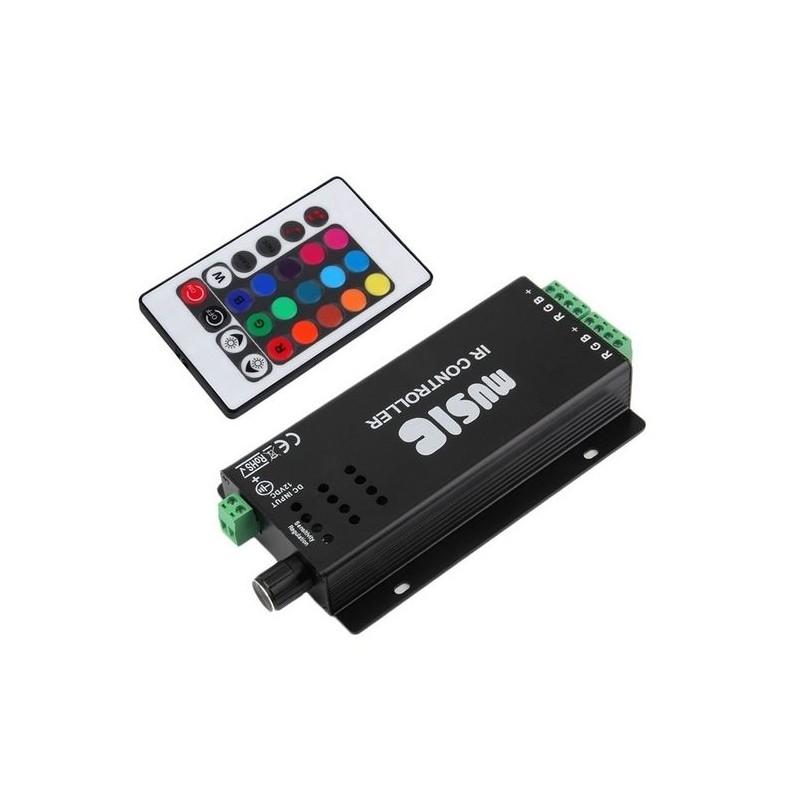 Controller muzical cu telecomanda IR 24 taste pentru banda RGB