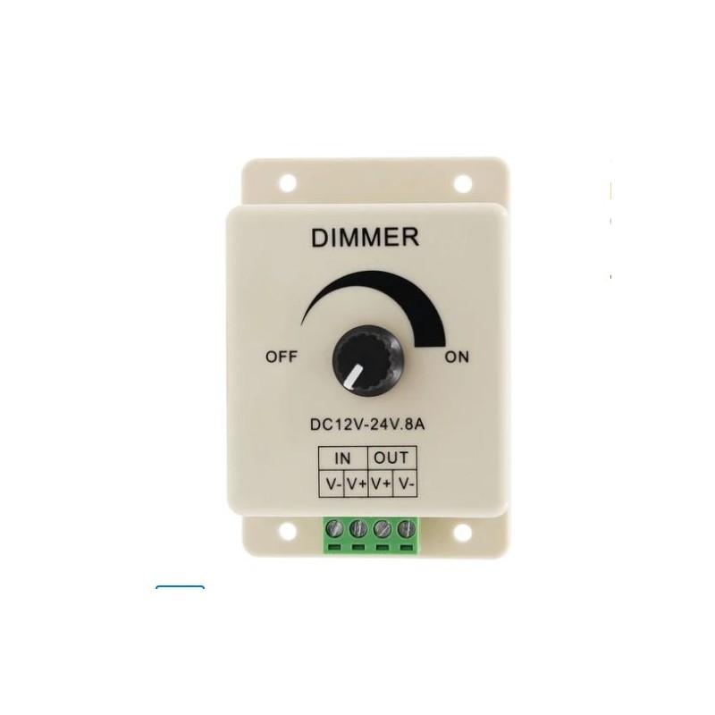 Dimmer LED 12-24V 8A cu potentiometru