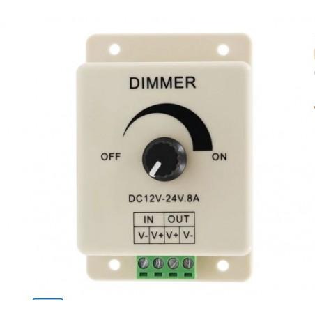 Variator LED 12-24V 8A cu potentiometru
