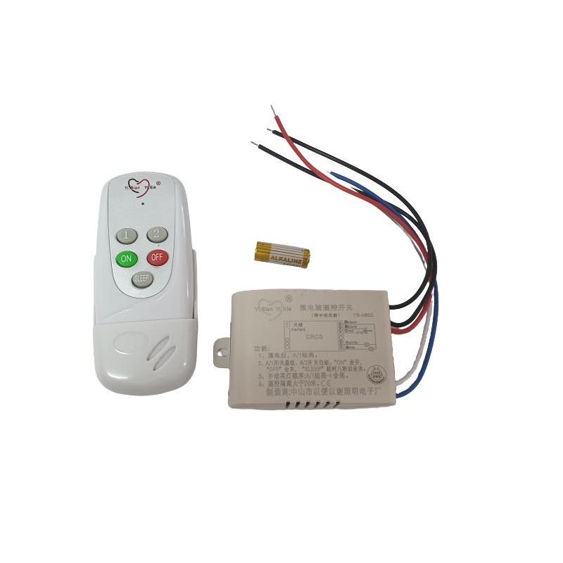 Telecomanda RF si modul cu doua canale pentru iluminat (YB-082) - KIT LUSTRA-02
