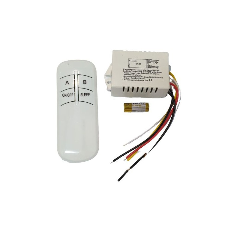 Telecomanda RF si modul cu doua canale pentru iluminat - KIT LUSTRA-08