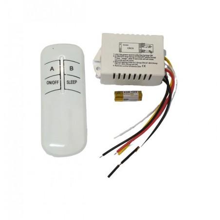 Kit lustra cu telecomanda RF si modul cu doua canale pentru iluminat (ON-OFF) (YB2AB)