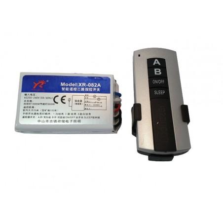Kit lustra cu telecomanda RF si modul cu doua canale pentru iluminat (ON-OFF) (YR-082A)