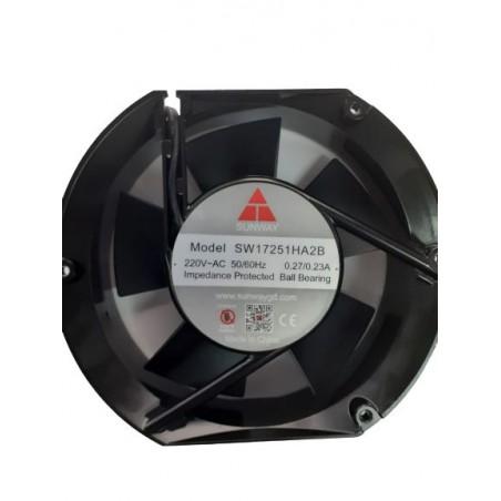 Ventilator 220VAC 0.27A 172x172x51mm metal 2700rpm max. rulment 180mc/h