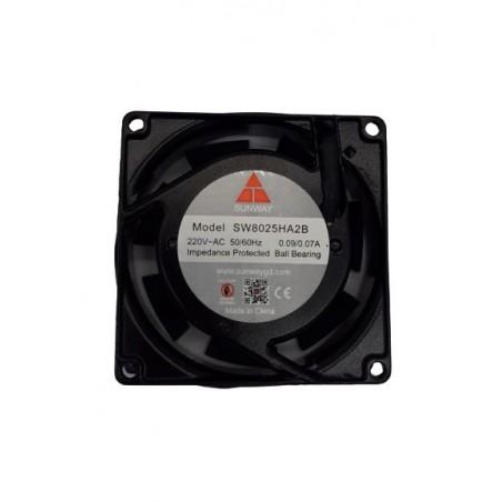 Ventilator 220VAC 0.09A 80x80x25mm metal 3000rpm max. rulment 20mc/h