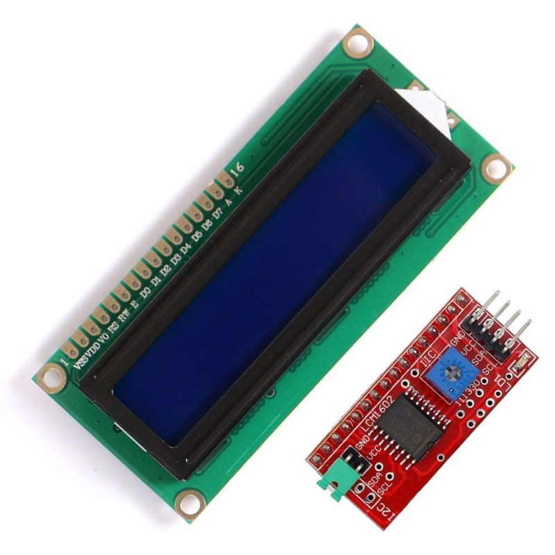 Display LCD 16x2 caractere IIC I2C LCD1602 albastru compatibil Arduino