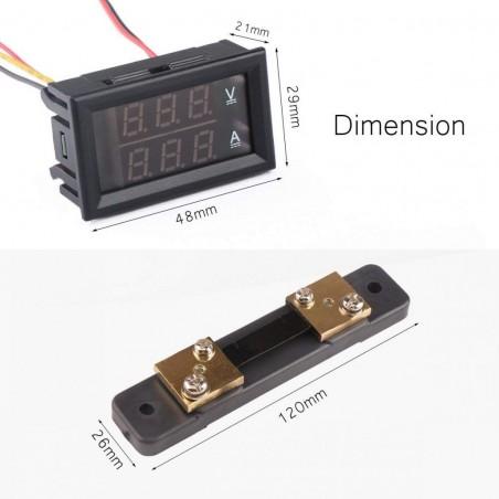 (MM) OKY4093-1 Voltampermetru 100V 50A cu sunt