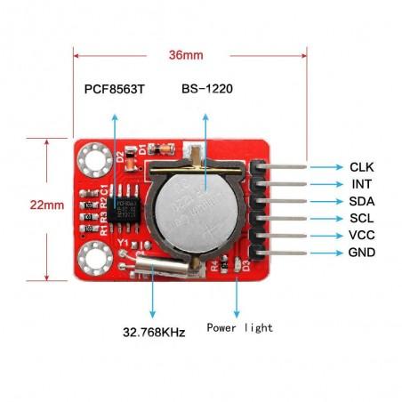 OKY3395 Modul ceas in timp real cu calendar I2C PCF8563 CR1220 neinclusa 10107420